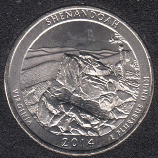 2014 P - Shenandoah - 25 Cents