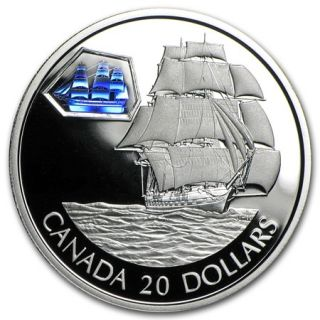 2001 - $20 - Transportation Ship 'Marco Polo' Proof Silver