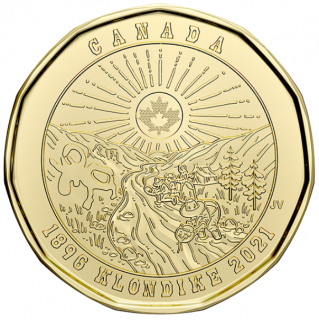 2021 - $1 - 125th Anniversary of the Klondike Gold Rush Uncoloured