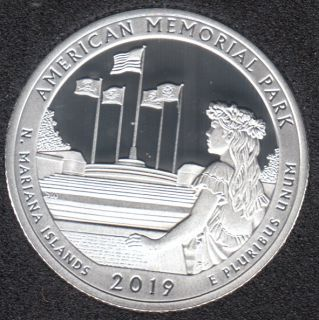 2019 S - Proof - American Memorial Park - Argent Fin - 25 Cents