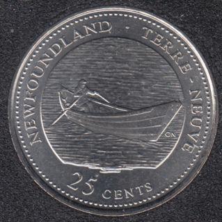 1992 - #3 B.Unc - Terre Neuve - Canada 25 Cents