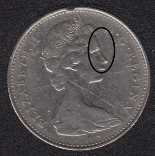 1974 - Double Head - Canada 5 Cents