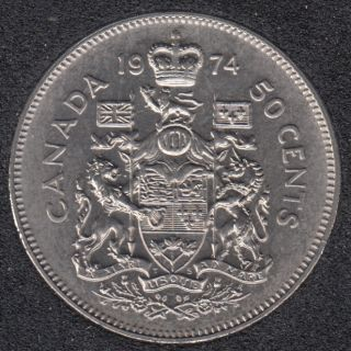 1974 - B.Unc - Canada 50 Cents