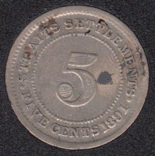 1891 - 5 Cents - Straits Settlements