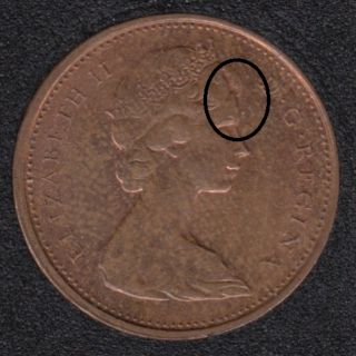 1970 - Double 'Head' - Canada Cent