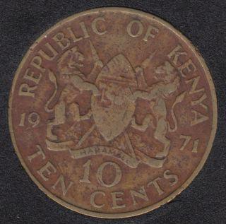 1971 - 10 Cents - Kenya