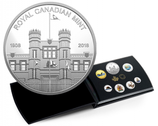 2018 Pure Silver Coloured 6-Coin Set with Medallion - Canadian Circulation Collection