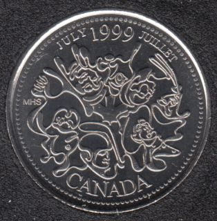 1999 - #7 B.Unc - Juilliet - Canada 25 Cents