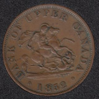 P.C. 1852 Bank of Upper Canada Half Penny - VF - PC-5B2