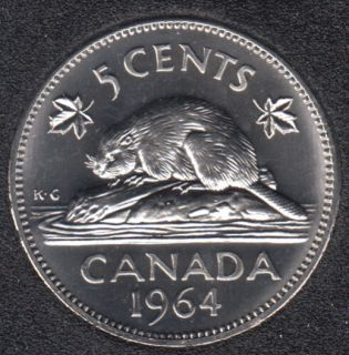 1964 - Proof Like - Canada 5 Cents