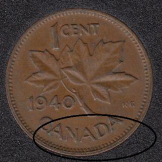 1940 - Double Rim - Canada Cent