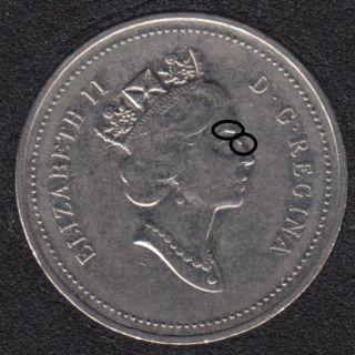 1998 - Dot sur Oeil & Nez - Canada 5 Cents
