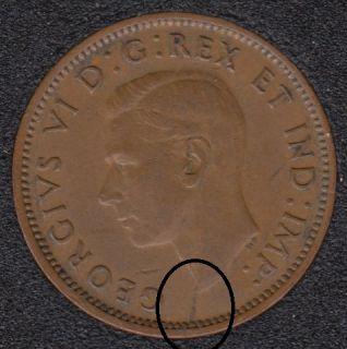1943 - Break Bust to Rim - Canada Cent