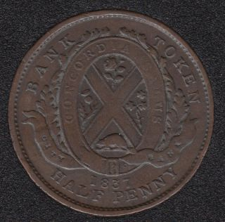 L.C. 1837 City Bank - Half Penny Token - LC-8A2
