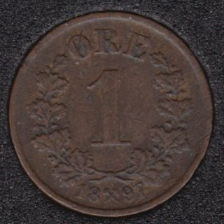 Norway - 1897 - 1 Ore