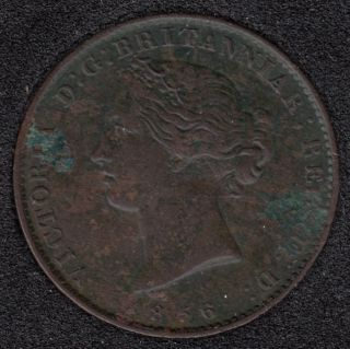N.S. 1856 Victoria Mayflower Coinage - Half Penny Token - VF - NS-5A1