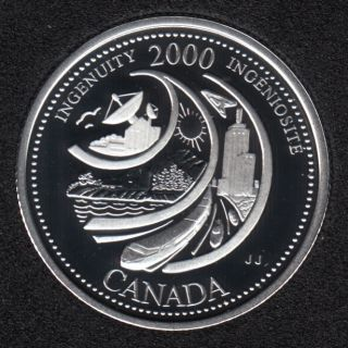 2000 - #2 Proof - Silver - Ingenuity - Canada 25 Cents