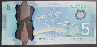 2013 $5 Dollars UNC - Wilkins Poloz - Prefix HCS