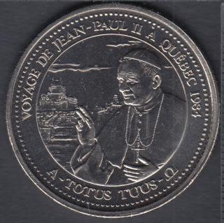 Quebec - Epicerie J.A. Moisan - 1984 - Visite du Pape Jean-Paul II - Valeur 30 Sous au Magasin