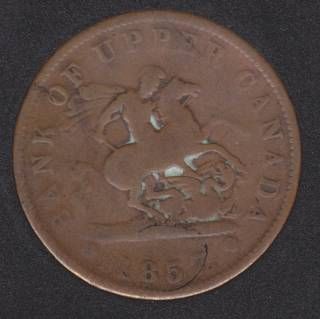 P.C. 1857 Bank of Upper Canada Penny PC-6D