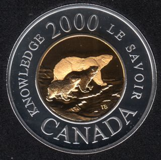 2000 - Proof - Le Savoir - Argent - Canada 2 Dollars