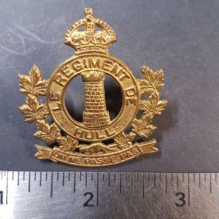 #1-11 WW2 era CANADA Canadian Armed Forces Le Regiment de HULL cap badge
