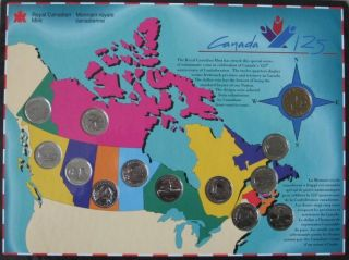 1992 - 25 Cents - Canada 125th Confederation Uncirculated 13 coins set -
