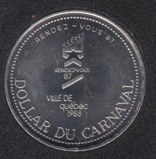Quebec - 1988 Carnival of Quebec - Pal. 1959 / Rendez-Vous '87 - Trade Dollar