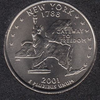 2001 D - New York - 25 Cents