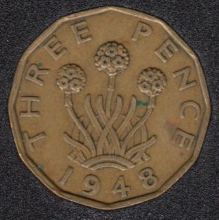1948 - 3 Pence - Great Britain
