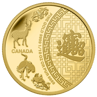 2014 - $5 - 1/10 oz. Pure Gold Coin - Five Blessings
