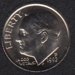 1992 P - Roosevelt - B.Unc - 10 Cents