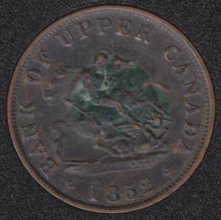 P.C. 1852 Bank of Upper Canada Half Penny PC-5B1