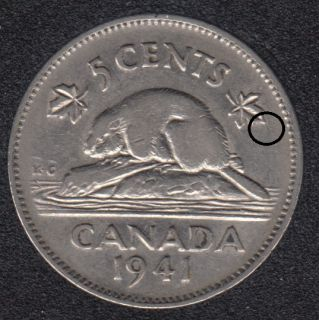 1941 - Die Break ML - Canada 5 Cents