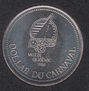Quebec - 1986 Carnival of Quebec - Eff. 1984 / Logo Quebec '84 - Trade Dollar