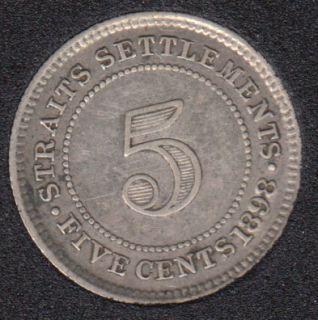 1898 - 5 Cents - Straits Settlements