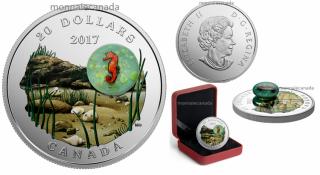2017 - $20 - 1 oz en argent pur - Vie sous-marine : Hippocampe