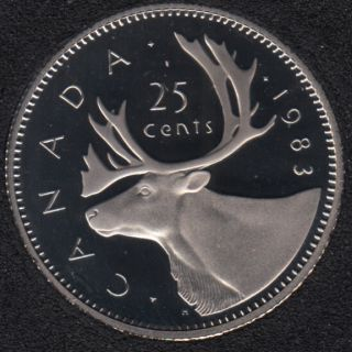 1983 - Proof - Canada 25 Cents