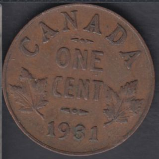 1931 - VF - Canada Cent