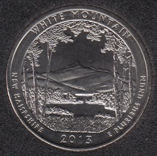 2013 D - White Mountain - 25 Cents