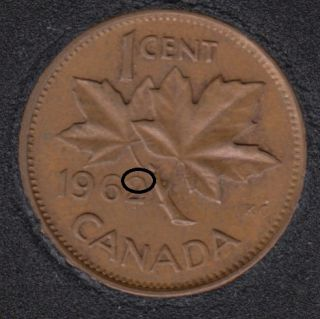 1962 - Dot on 2 - Canada Cent
