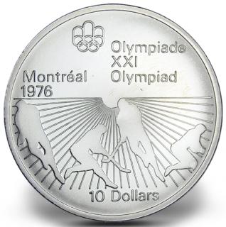 1976 - #21 - $10 - Pièce en argent sterling, Jeux olympiques d'été à Montréal, Hockey sur gazon