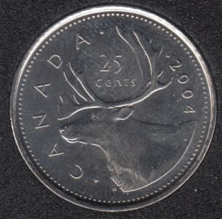 2004 P - B.Unc - Canada 25 Cents
