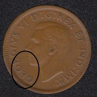 1940 - Break GEOR Attached - Canada Cent