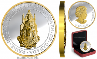 2017 - $25 - 1 oz. Pure Silver Gold-Plated Coin - The Great Seal of Canada