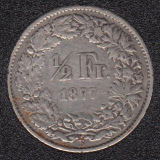1877 B - 1/2 Franc - Switzerland