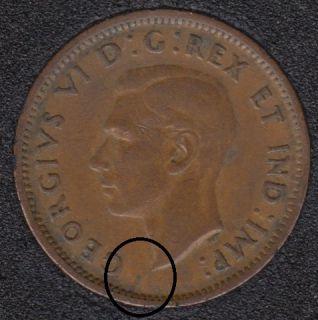 1942 - Break Bust to Rim - Canada Cent