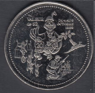 Rimouski - 1989 - Festival d'Automne - Dollar Ti-Cousin - $2 Trade Dollar
