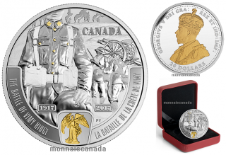 2017 - $20 - 1 oz Pure Silver - Battlefront Series  - First World War - Vimy Ridge