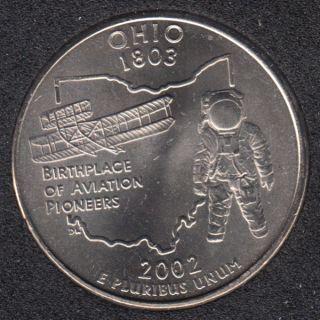 2002 P - B.Unc - Ohio - 25 Cents